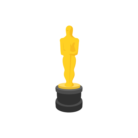 nominations: Golden statue cartoon icon on a white background Illustration