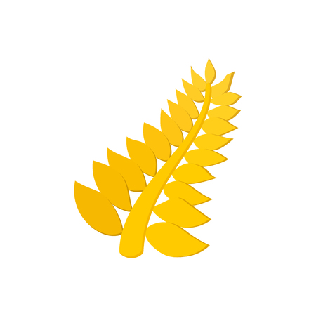 famous actor: Golden palm cartoon icon on a white background