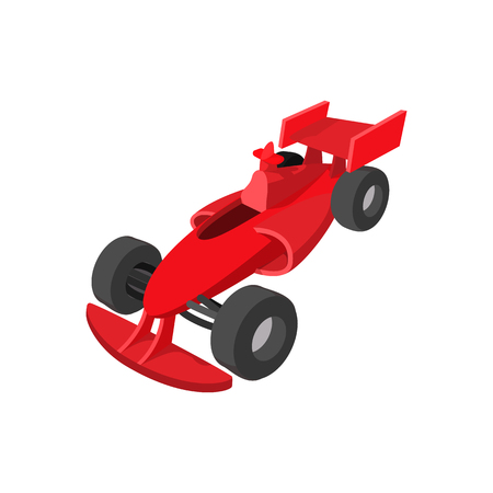 speeding: Speeding race car cartoon icon. Car racing symbol on a white background Illustration