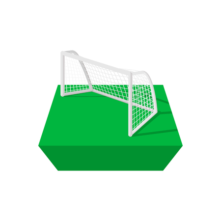 crossbar: Football goal cartoon icon isolated on a white background