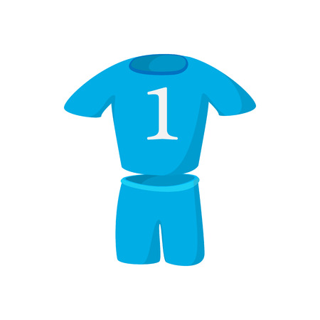 soccer team: Football kit cartoon icon isolated on a white background