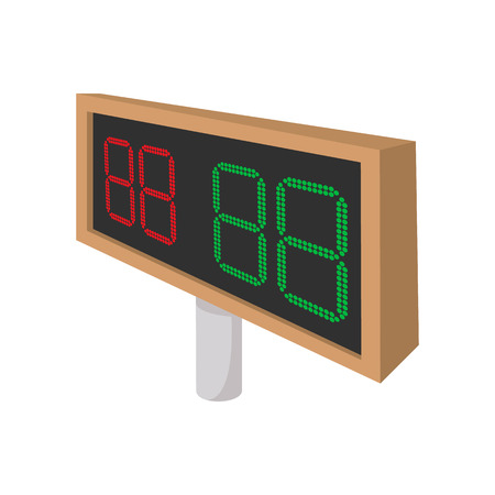 rivalry: Football scoreboards cartoon icon isolated on a white background
