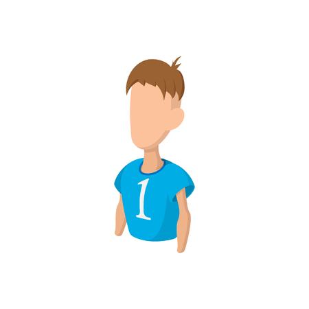 footballer: Footballer cartoon icon isolated on a white background Illustration
