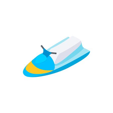 jet ski: Jet ski 3d icono isom�trica aislado en un fondo blanco