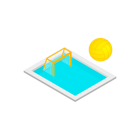 wading: Pool handball isometric 3d icon isolated on a white background