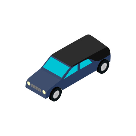 hearse: Hearse isometric 3d icon on a white background