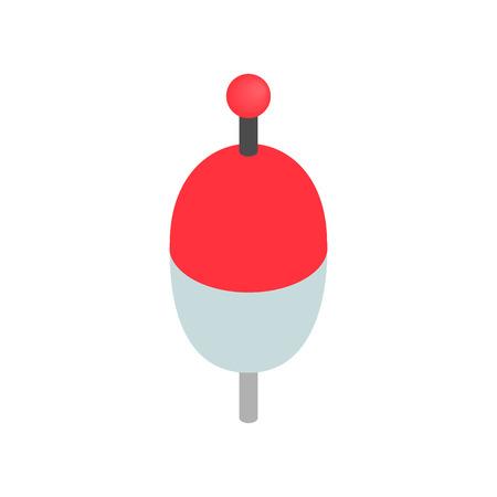 bobber: Bobber isometric 3d icon on a white background