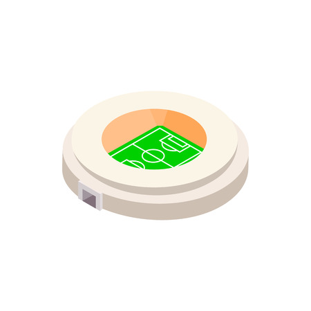 grass isolated: Football soccer round stadium isometric 3d icon on a white background