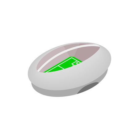 ellipse: Modern fotball stadium isometric 3d icon. Shape of ellipse