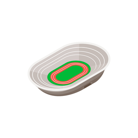 Track field stadium 3d isometric icon on a white background