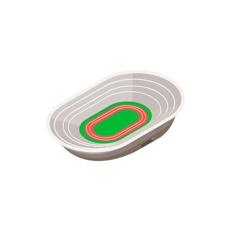 Piste stade d'athlétisme 3d icône isométrique sur un fond blanc