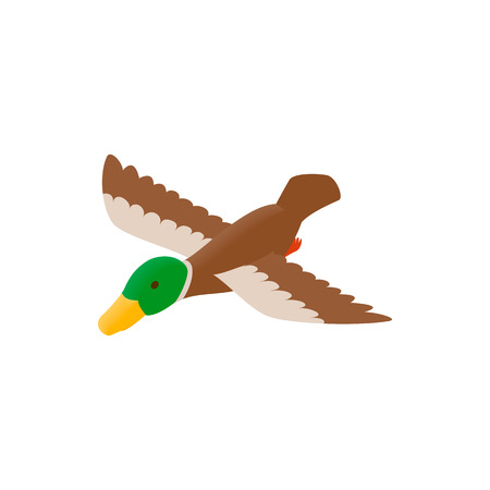 decoy: Duck decoy isometric 3d icon on a white background