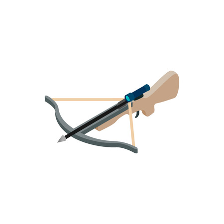 arbalest: Crossbow isometric 3d icon on a white background