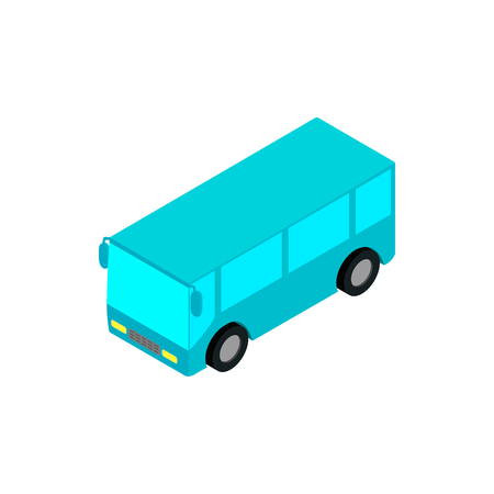 bus station: Bus airport isometric 3d icon isolated on a white background