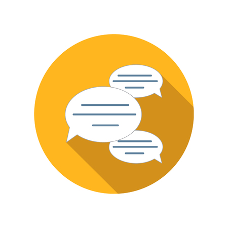 dialog baloon: Chat bubles flat icon on a white background Illustration