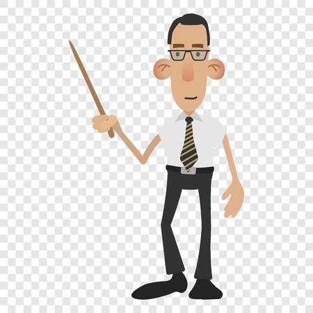 classroom teacher: Cartoon male teacher isolated on transparent background