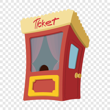 Movie cartoon box office on transparent background Vectores