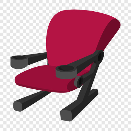 moviehouse: Cinema chair icon in cartoon style on transparent background Illustration