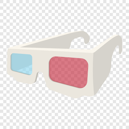 glasses icon: 3D Glasses icon in cartoon style on transparent background