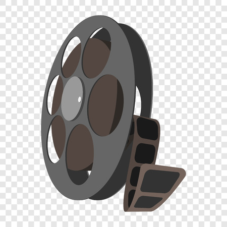 videotape: Videotape icon in cartoon style on transparent background