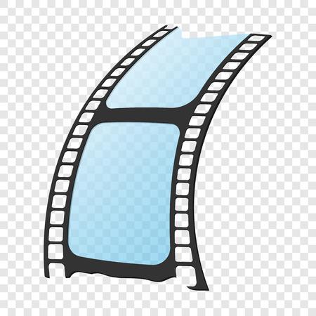 cine: icono de v�deo en el estilo de dibujos animados sobre fondo transparente