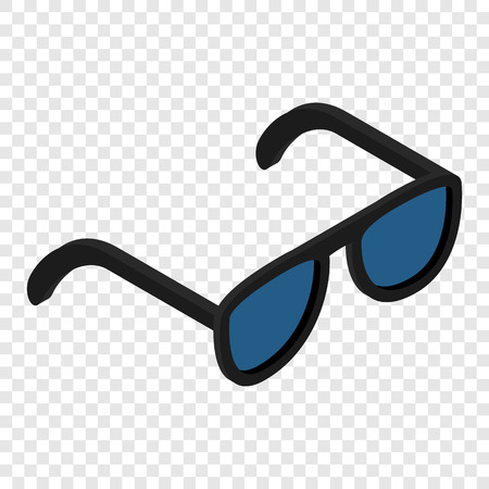 aviators: Sunglasses isometric 3d icon on transparent background Illustration