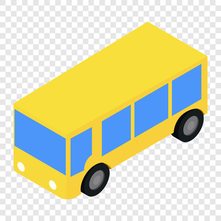 bus stop: Bus isometric 3d icon on transparent background Illustration