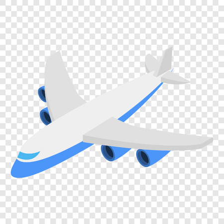 Plane Isometric 3d Icon On Transparent Background Stock Vector