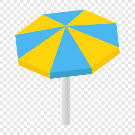 sunshade: Beach sunshade isometric 3d icon on transparent background