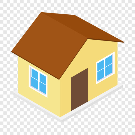 background house: House isometric 3d icon on transparent background