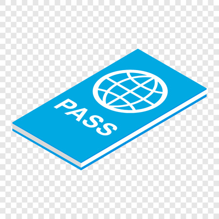 passeport: Passeport 3d isom�trique ic�ne sur fond transparent Illustration