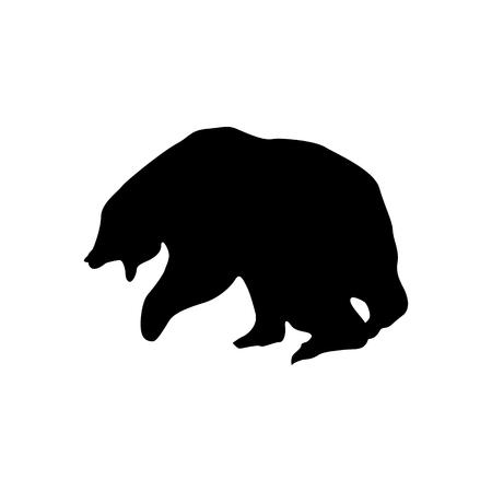 Orso nero isolato su sfondo bianco