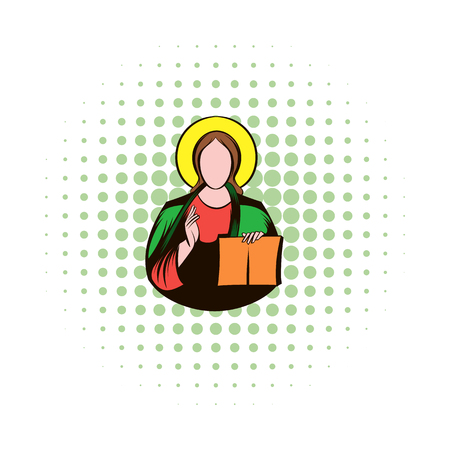 redemption: Jesus Christ comics icon isolated on a white background Illustration
