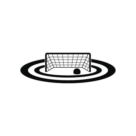 waterpolo: puertas de waterpolo negro simple icono aislado en el fondo blanco Vectores