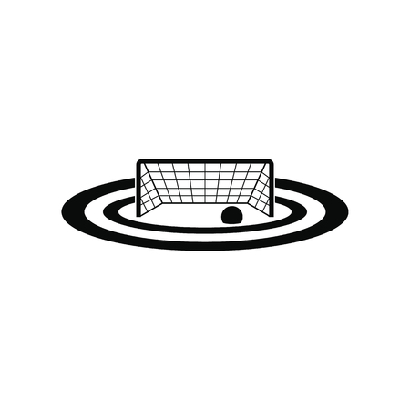 pool player: Water polo gates black simple icon isolated on white background Illustration