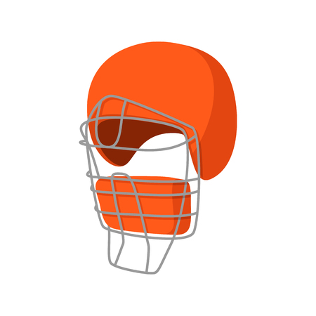 baseball catcher: Baseball catcher helmet cartoon icon. Single symbol isolated on a white background Illustration