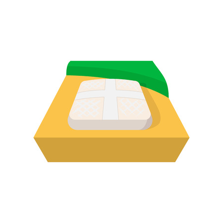 Part of baseball field cartoon icon. Baseball home isolated on a white background