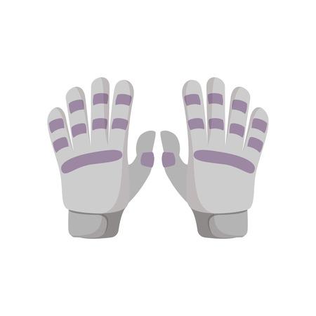 golf glove: Golf glove cartoon icon on a white background Illustration