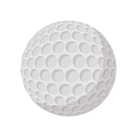 golfball: Golf ball cartoon icon on a white background