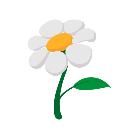 perennial: Garden flowers cartoon icon on a white background