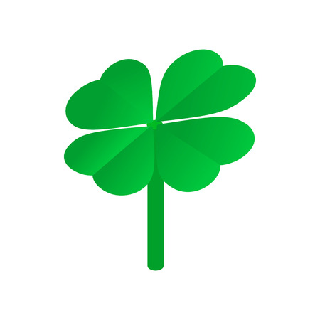 patric icon: Clover leaves isometric 3d icon on a white background Illustration