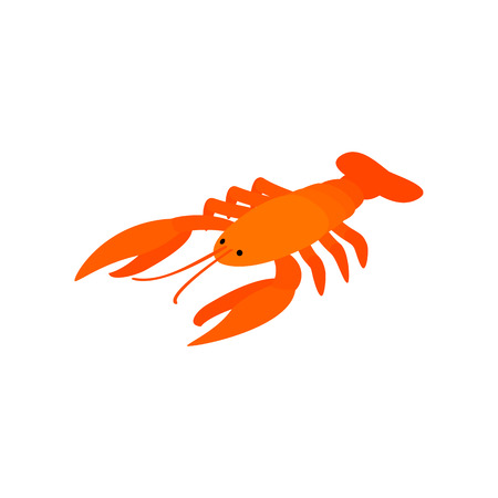 pincers: Cancer to beer isometric 3d icon on a white background