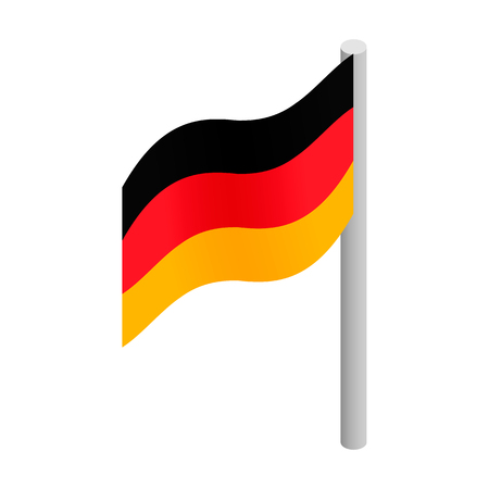 Germany flag isometric 3d icon on a white background