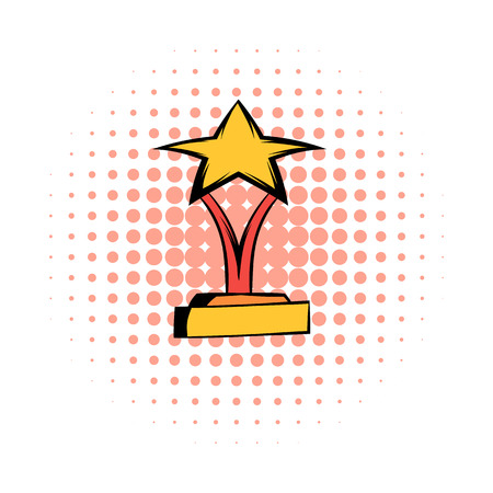 star award: Star award comics icon on a white background