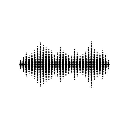 audio wave: Sound or audio wave isolated on white background Illustration