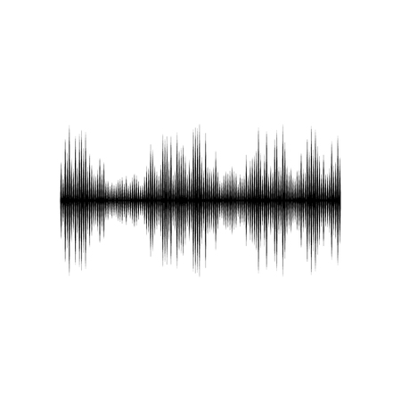 Sound or audio wave isolated on white background Stock Illustratie