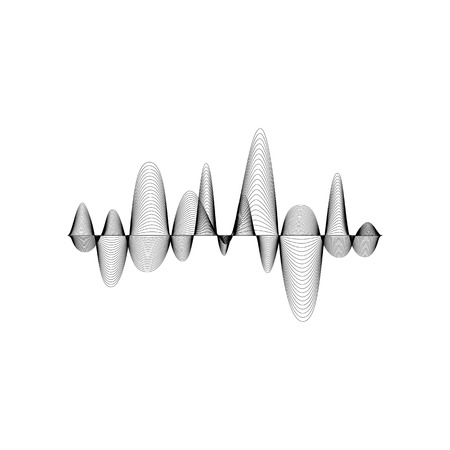 soundness: Sound or audio wave isolated on white background Illustration