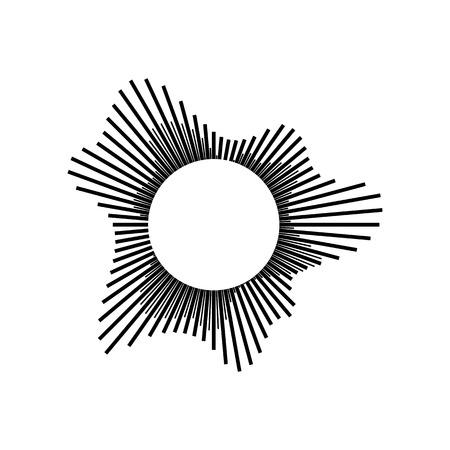 sonido: onda de sonido o de audio aislado en el fondo blanco