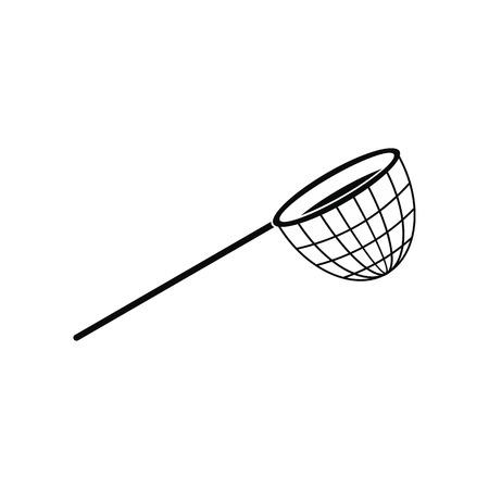 twine: Fishing net black simple icon isolated on white background
