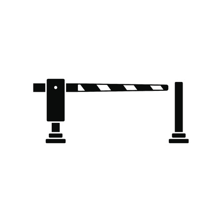 hut: Railway barrier black simple icon isolated on white background